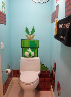 """Baño con temática """"Mario"""""""