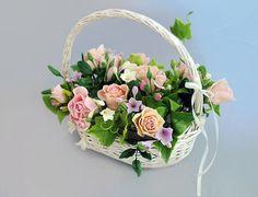 Flower Arrangements Home Decoration Basket with by IrynaFleur