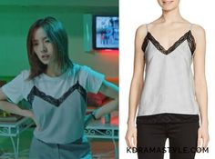 """Yoon So Ah's Lace Camisole Top - Maje Lanette Lace-Trimmed Camisole Top. Shin Se Kyung 신세경 as Yoon So Ah 소아 in """"Bride of the Water God 2017"""" Episode 4."""