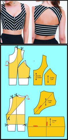 Sewing Pattern/ Crop top
