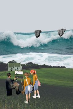including collage, painting, photograph and more. Surrealist Collage, Art Du Collage, Mixed Media Collage, Digital Collage, Collages, Arte Pop, Photomontage, Street Art, Kunst Online