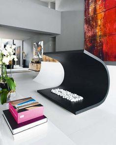 "A very stylish and ""cool"" fireplace  www.tyronetimberframes.com Fireplaces Freshome (6)"