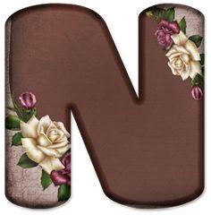 Alphabet Letters Design, Flower Alphabet, Floral Font, Letter N, Name Art, Lettering Design, Flower Art, Claire, Blog