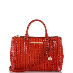 Fall Bag Bling...Brahmin Small Lincoln Satchel, Vermillion La Scala...