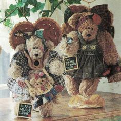 """Vintage 1996 Furry Teddy Bears and Clothes! Simplicity Crafts Sewing Pattern 7000, """"Dream Babies 'N' Stitches,"""" UNCUT with FACTORY FOLDS by karl79 on Etsy"""