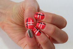 cute toenail designs | All you need is bright pink nail polish. silver nail polish, white ...