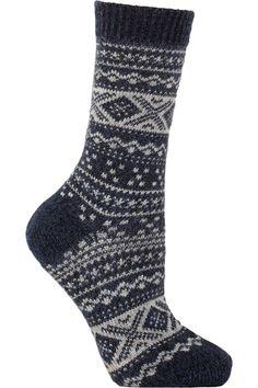 Falke|Norwegian patterned knitted socks|NET-A-PORTER.COM