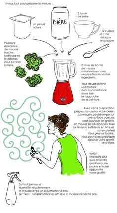 Faire de l'art végétal dans votre jardin #landart - DIY moss graffiti