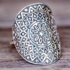 Mandala Ring | Bohemian Gypsy Jewelry | Boho Festival Jewellery | Hippie Fashion Style | Indie and Harper