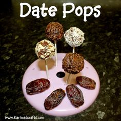 Super easy to make Date Pops #Ramadanfood from @karimascrafts