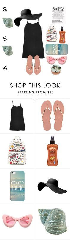 """""""Untitled #221"""" by polaroidandfashion ❤ liked on Polyvore featuring Reformation, Havaianas, Anya Hindmarch, Hawaiian Tropic, Casetify, ZeroUV and Urban Decay"""