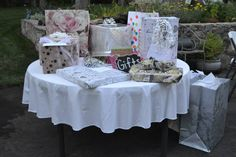 Lots of gifts from our very generous family and friends. BBQ bridal shower