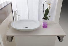 Umývadlo na dosku Glacera Vallone cm, bez prepadu Feng Shui, Sweet Home, Sink, Vanity, Bathroom, Design, Home Decor, Sink Tops, Dressing Tables