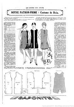 Online sewing patterns for dresses free vintage sewing patterns free . Dress Sewing Patterns, Vintage Sewing Patterns, Clothing Patterns, Diy Couture Mode, 1920s, Motif Vintage, Pattern Drafting, Sewing Techniques, Fashion History