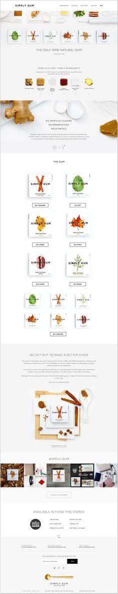 minimal website concept for food nutrition health