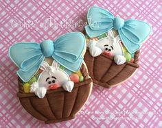 Easter baskets by Cookies with Character.    Adorable!!!!!