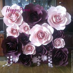Купить или заказать Гигантские розы. 1квм. Индивидуальные цвета в интернет-магазине на Ярмарке Мастеров. Гигантские объемные розы из дизайнерской плотной бумаги. Возможно из изготовление любого размера. Стоимость за 1кв метр. Скидки от суммы заказа! В кв м можно добавить пионы. Фон из роз прекрасно подойдет, как для кенди бара или пресс волл.