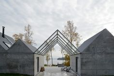 Concrete Gabled Summerhouse Lagno / designed by Tham & Videgard (photo by Åke E:son lindman)