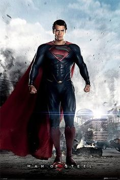 Póster Superman, Man of Steel. Ciudad