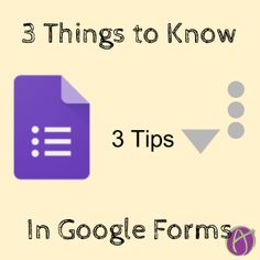 3 Things to Know in Google Forms Teaching Technology, Teaching Science, Teaching Tools, Assistive Technology, Teaching Ideas, Things To Know, 3 Things, Google Classroom, Three Dots