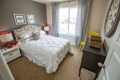 A sweet, feminine bedroom at Mountain Splendor - Fruit Heights, Utah - New Homes | HenryWalkerHomes.com