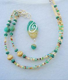 Boho Necklace, Boho Fashion, Summer Fashion Jewelry