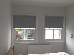 Blackout roller blinds for bedroom   Sash windows   Privacy blinds   Fitzrovia, central London   Made to measure
