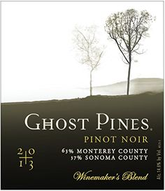 2013 Ghost Pines Sonoma County Monterey County Pinot Noir 750mL ** Visit the image link more details.