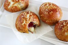 Brie and Jam Pretzel Hand Pies. How yummy.