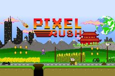 Pixel Rush, the free #pixelart runner for #iOS and #Android by Pixel Heart! #madeinitaly #indiegames #videogames
