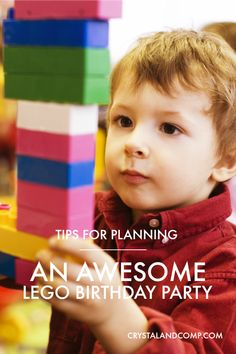 Tips for Planning an Awesome LEGO Birthday Party from Crystal and Co.