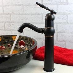 Single Handle Oil Rubbed Bronze Bathroom Vessel Filler Sink Faucets 117K-Wholesale Faucet