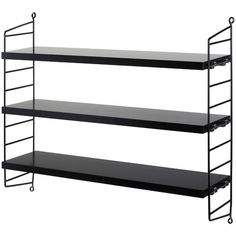 Introduced in the String shelf system is regarded as a design icon and still looks as modern today as it did over 60 years ago. Each String Pocket shelf system contains 2 side panels and 3 shelves and is perfect for CDs, DVDs and paperbacks. Decor, Teak, Shelves, Wall Shelves, Shelving, Furniture Design, Walnut Shelves, Bookcase, Furniture