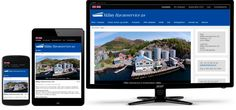 Mobilvennlig design for Måløy Havneservice, et større firma med to søsterbedrifter. Web Norge har laget alle tre.