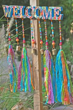 Crystals And Gemstones, Crystal Beads, Glass Beads, Outdoor Welcome Sign, Home Living, Gypsy Living, Beaded Curtains, Turquoise Glass, Front Door Decor