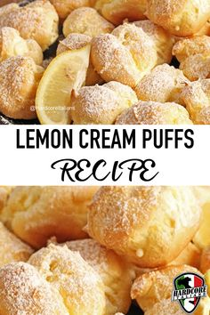 Who doesn't love simple dessert recipes? Lemon creme puffs are an amazing summer treat and are not difficult to make at all! Watch the video below by Laura Vitale to learn how! Lemon Dessert Recipes, Lemon Recipes, Sweet Recipes, Delicious Desserts, Veal Recipes, Cooking Recipes, Lemon Cream Puff Recipe, Eclair Recipe, Puff Pastry Recipes