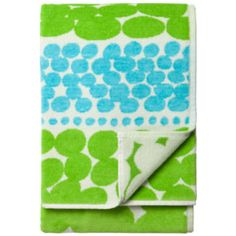 Jurmo Bath Towel - I'm really into the grass-green of spring on everything. This designer was inspired by the ocean, but I just keep thinking of gardens when I see this print.