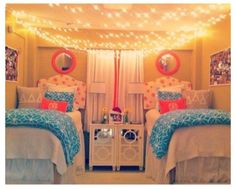 Dorm room.. . can also put these under a loft bed above desk or couch