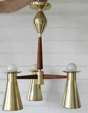1960's Imperialites Pull-Down 3  Arm Double Cone Chandelier
