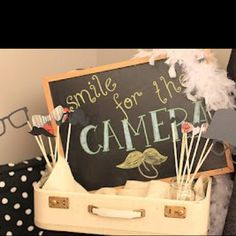 ❤️Photo booth props; a cute sign saying to go into photobooth!