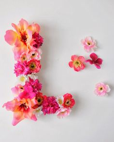 diy: floral monogram