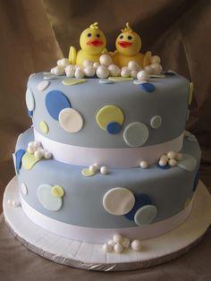 Twins Baby Shower, cvillecakes.com