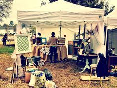 Craft Show Display by The Penny Runner (Equinox Art and Music Festival, Conway, SC)
