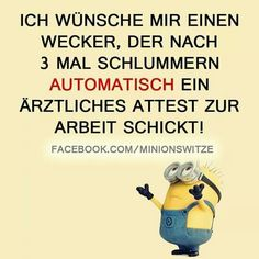 I would like a wekcer who, after three sleeps, automatically becomes a doctor . - I would like a wekcer who, after three slumber, automatically becomes a doctor … – Funny – # - One Word Sentence, Minion Humour, Cute Minions, Funny Minion, Tabu, Feelings And Emotions, Minions Quotes, Life Is Hard, Sarcastic Humor