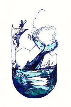 Wine Glass, Waves, Tableware, Artwork, Dinnerware, Work Of Art, Auguste Rodin Artwork, Tablewares, Artworks