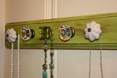 Necklace Holder or Hanger- Crystal Key Lime. $37.00, via Etsy. cool! make for kaitlyn
