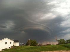Strange storm clouds