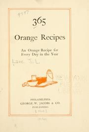 365 orange recipes - to make use of the trees...