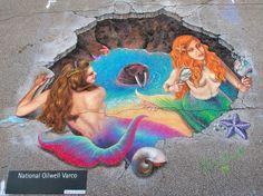 Melanie Stimmell mermaid grotto street art via colori.