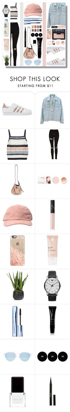 """Sin título #292"" by alita210100 ❤ liked on Polyvore featuring adidas Originals, SUNO New York, Topshop, STELLA McCARTNEY, Korres, NARS Cosmetics, Casetify, La Roche-Posay, Zodax and Emporio Armani"